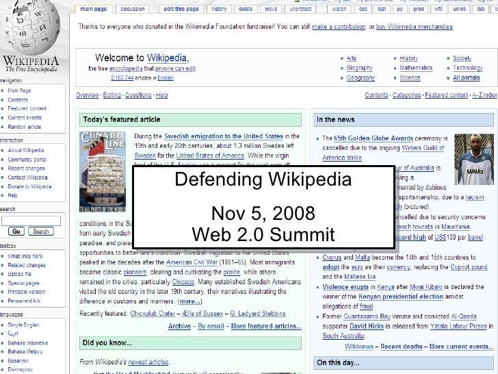 Defending Wikipedia 2