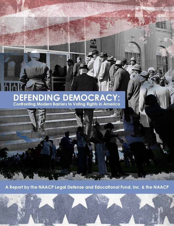 DEFENDING DEMOCRACY: Confronting Modern Barriers to Voting Rights in America                                              ...
