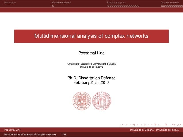 Multidimensional Analysis of Complex Networks