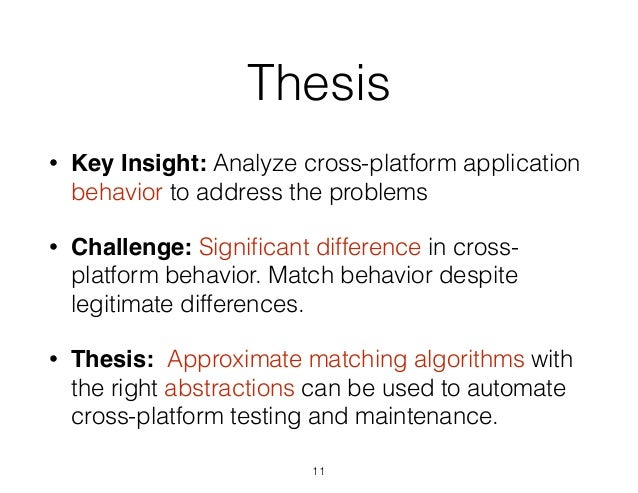 Difference between thesis and conclusion