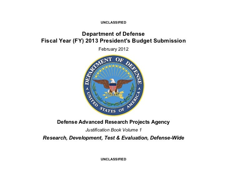 UNCLASSIFIED               Department of DefenseFiscal Year (FY) 2013 Presidents Budget Submission                      Fe...
