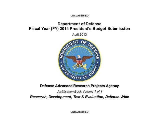 UNCLASSIFIED               Department of DefenseFiscal Year (FY) 2014 Presidents Budget Submission                        ...