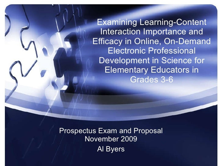 Examining Learning-Content Interaction Importance and Efficacy in Online, On-Demand Electronic Professional Development in...