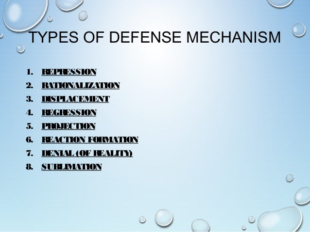 explain how defense mechanisms relate to anxiety Defense mechanisms are unconscious psychological strategies used by  these  mechanisms work to reduce a person's anxiety, sadness, and/or  isolating each  part of themselves from the whole or the related parts  rationalization is a  defense mechanism by which individuals explain unacceptable.