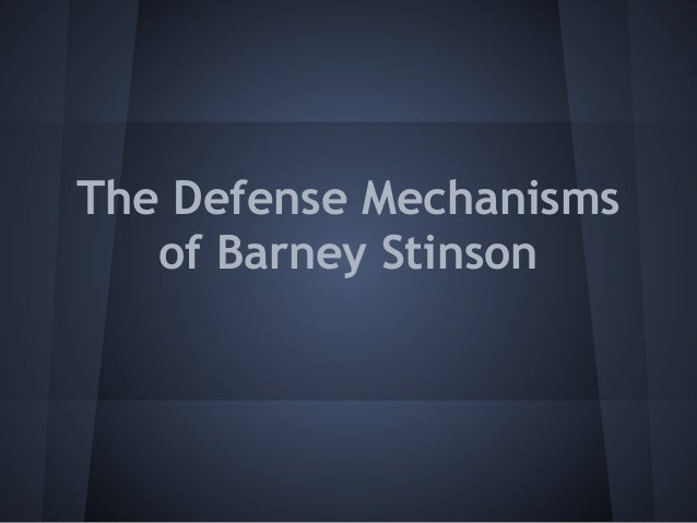 The Defense Mechanisms of Barney Stinson