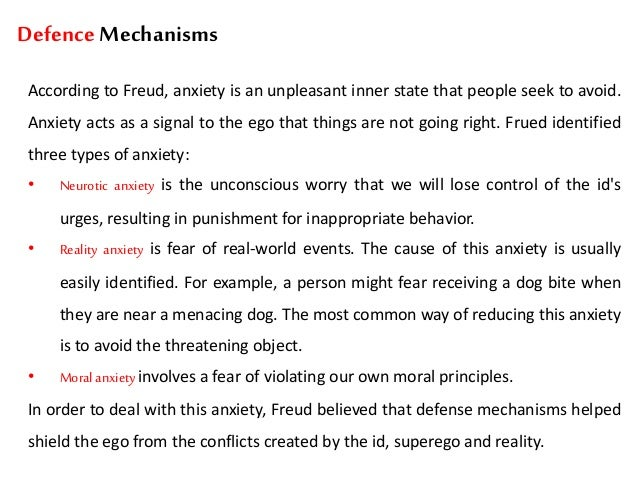 defense mechanisms essay A look at common defense mechanisms we employ to protect the ego.