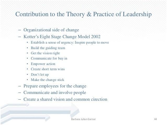Dissertation leadership change