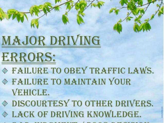 Why obeying traffic laws is important?