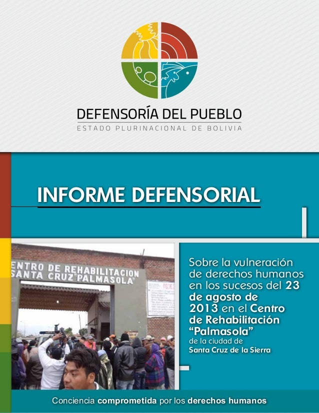 Defensoria del Pueblo - Informe sobre la masacre en Palmasola