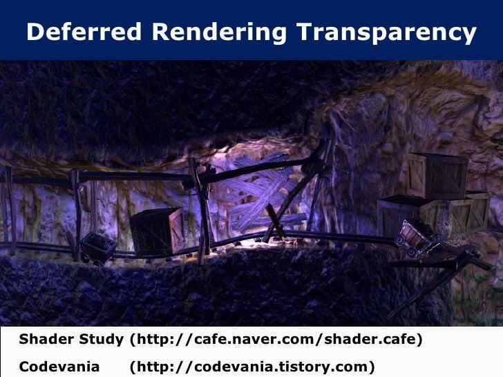 Deferred rendering transparency