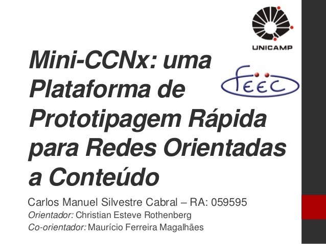 MSc Thesis Defense - Mini-CCNx for Content-Centric Networking