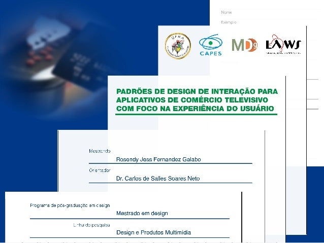 Introdução  design  Experiência do  Orientações de  Usuário  design  Metodologia  Padrões de  da pesquisa  Estudo  Analíti...