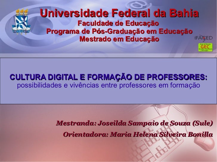 Diisertação - Cultura digital e formação de Professores