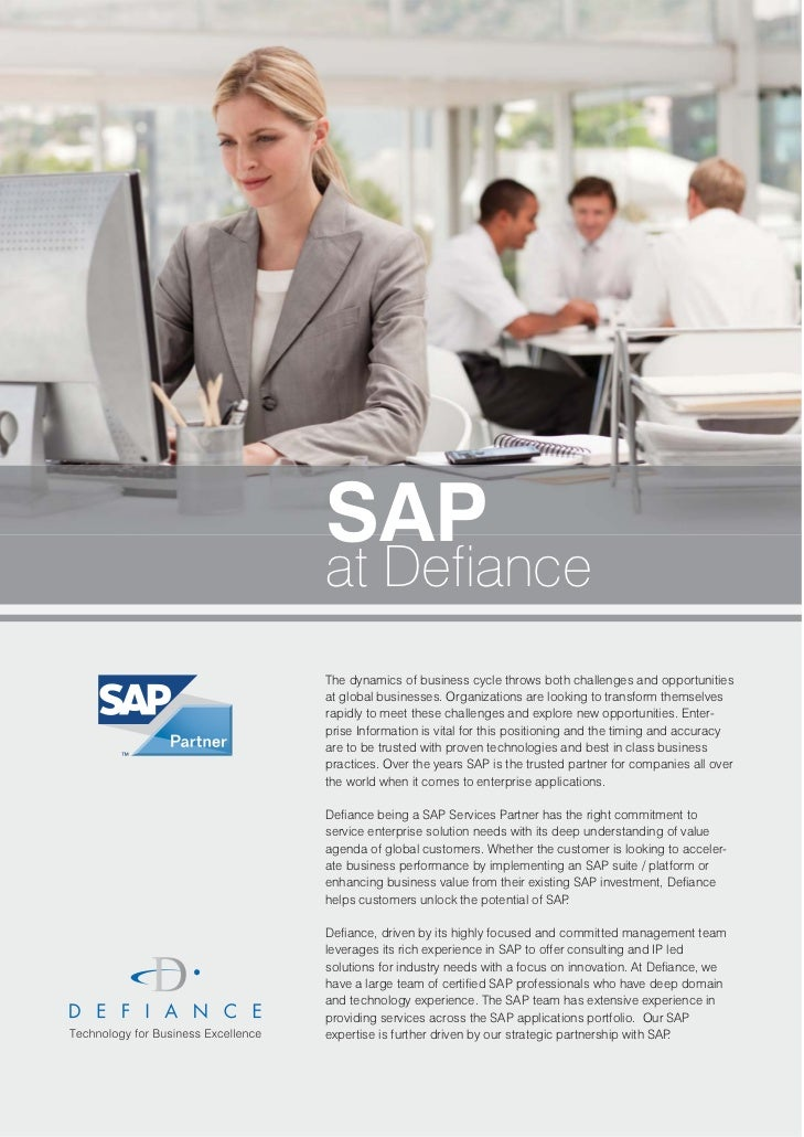SAPat DefianceThe dynamics of business cycle throws both challenges and opportunitiesat global businesses. Organizations a...