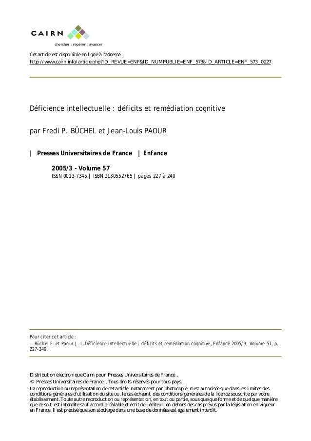 Cet article est disponible en ligne à l'adresse : http://www.cairn.info/article.php?ID_REVUE=ENF&ID_NUMPUBLIE=ENF_573&ID_A...