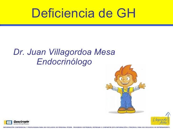Deficiencia De Gh