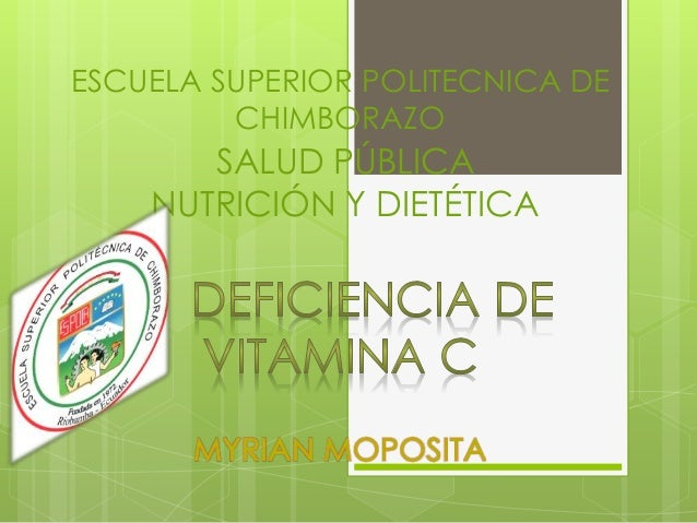 ESCUELA SUPERIOR POLITECNICA DE CHIMBORAZO  SALUD PÚBLICA NUTRICIÓN Y DIETÉTICA