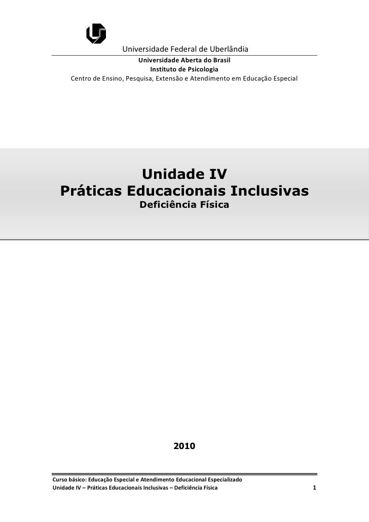 Universidade Federal de Uberlândia                            Universidade Aberta do Brasil                               ...