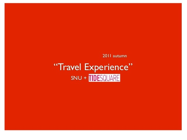 2011 Travel Experience