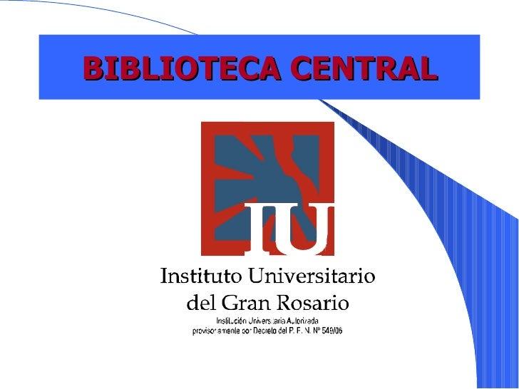 Actividad Formación Usuarios - Biblioteca Central FGR