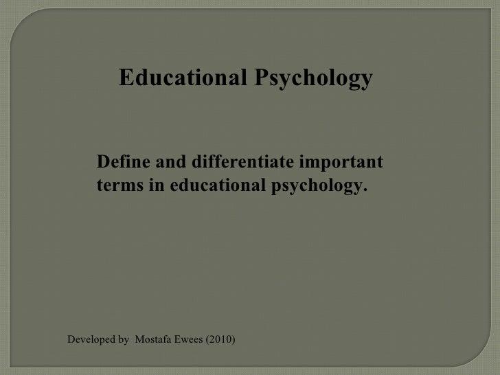 Educational Psychology by Mostafa Ewees