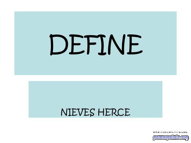 DEFINE NIEVES HERCE