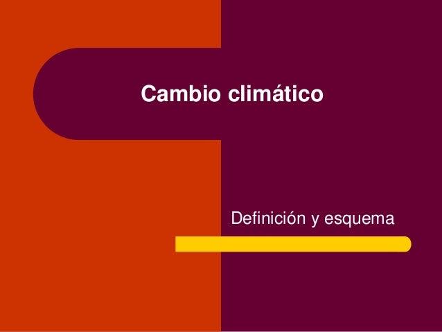 Cambio climático Definición y esquema
