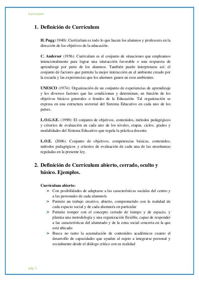 definicion curriculum vitae cronologico