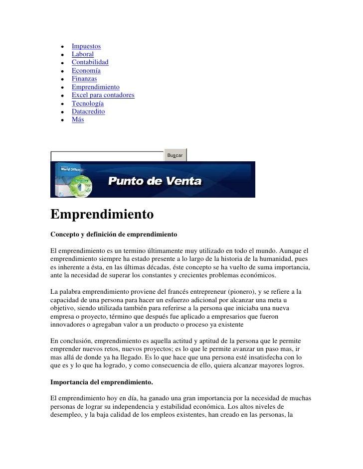 Definición de emprendimiento