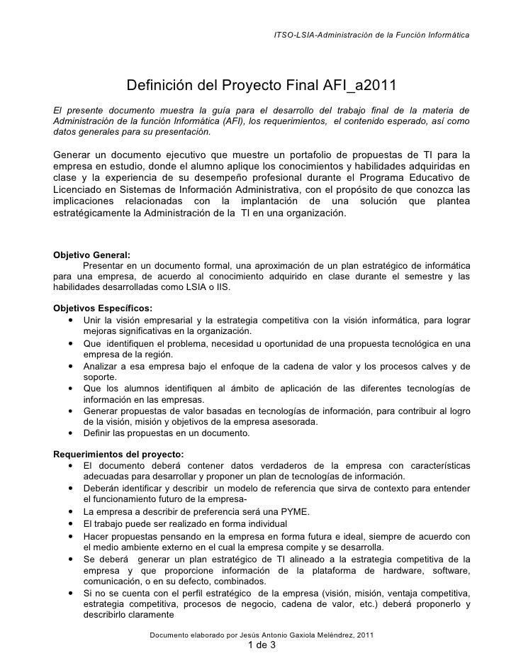 ITSON-LSIA-AFI Definición del proyecto final