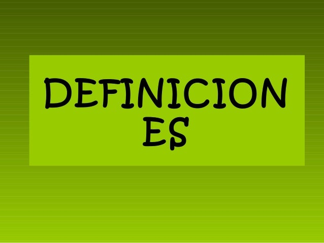 DEFINICION ES