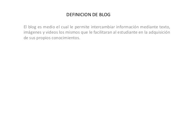 Definicion de blog