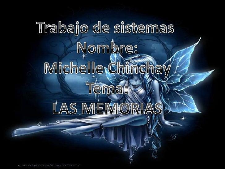 Definicion de las memorias