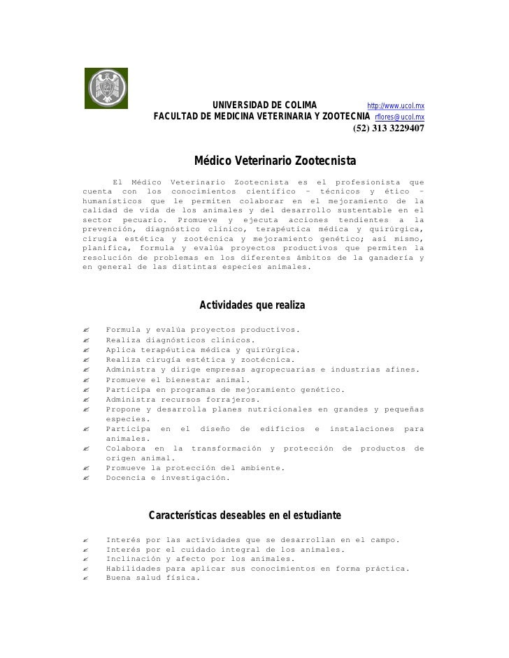 UNIVERSIDAD DE COLIMA           http://www.ucol.mx             FACULTAD DE MEDICINA VETERINARIA Y ZOOTECNIA rflores@ucol.m...