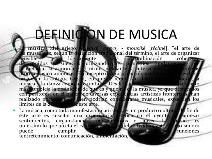 Definicion de musica
