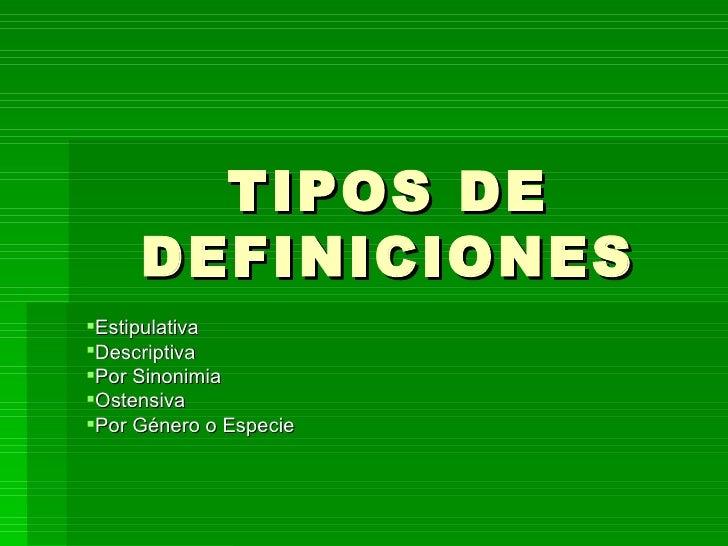 Definiciones, ExplicacióN E InterpretacióN De Sentido