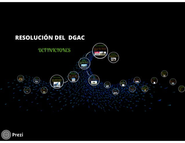RESOLUCIÓN DEL DGAC (DEFINICIONES DE TRANSPORTE AEREO)