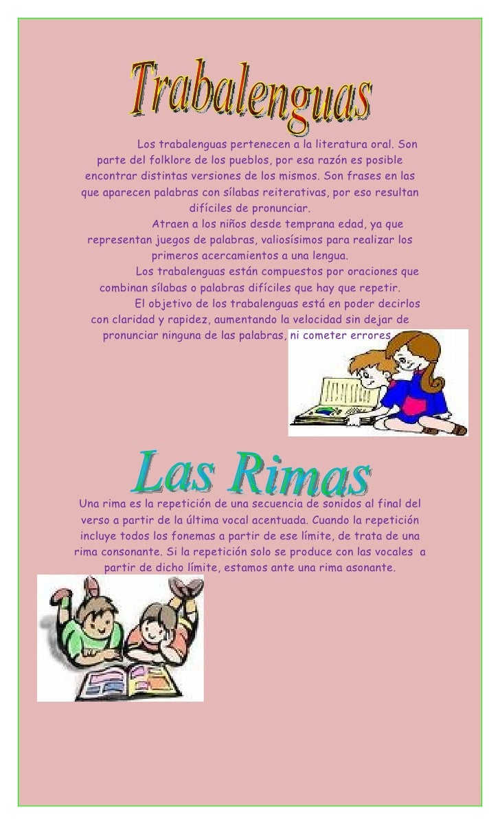 Definicion Trabalenguas Y Rimas