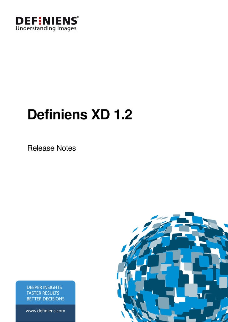 Definiens Eii 8.0 Definiens Xd 1.2 Release Notes