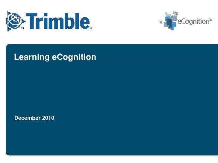 Trimble eCognition Training Overview
