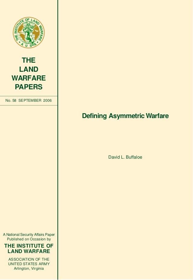Defining asymmetric warfare