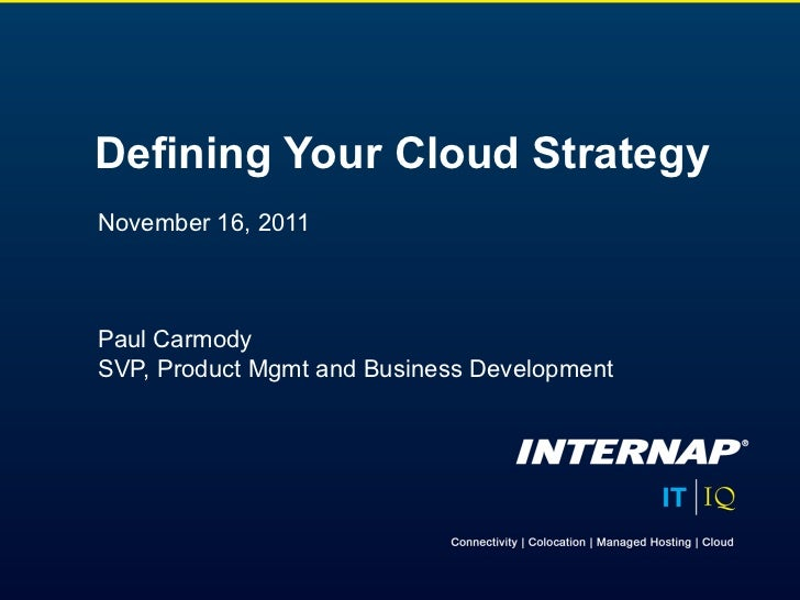 Defining Your Cloud Strategy