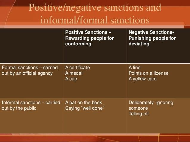 Positive Sanction Positive Negative Sanctions