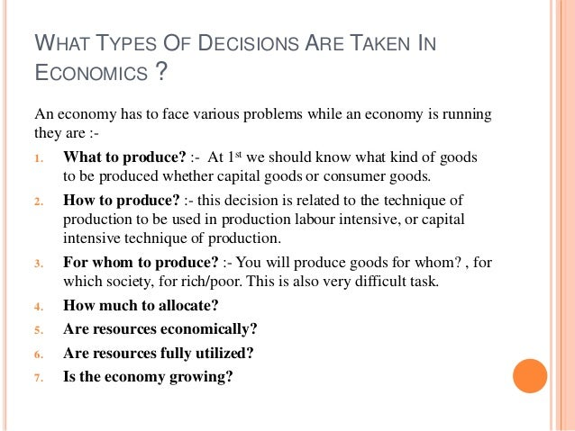 Economics assignment