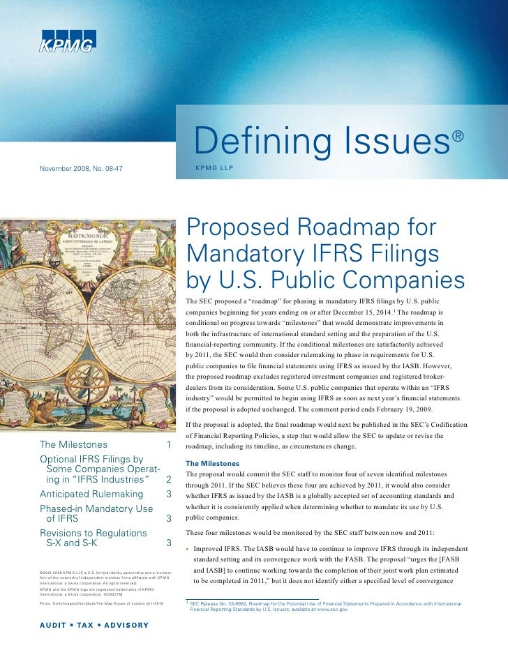 Defining Issues Sec Proposes Ifrs Roadmap