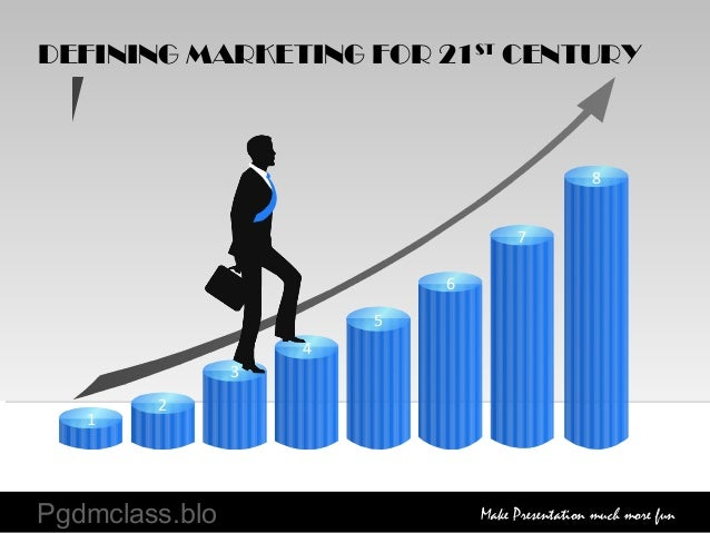 8 7 6 5 4 3 2 1 DEFINING MARKETING FOR 21ST CENTURY Pgdmclass.blo Make Presentation much more fun