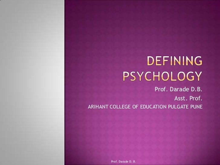 Defining psychology 1