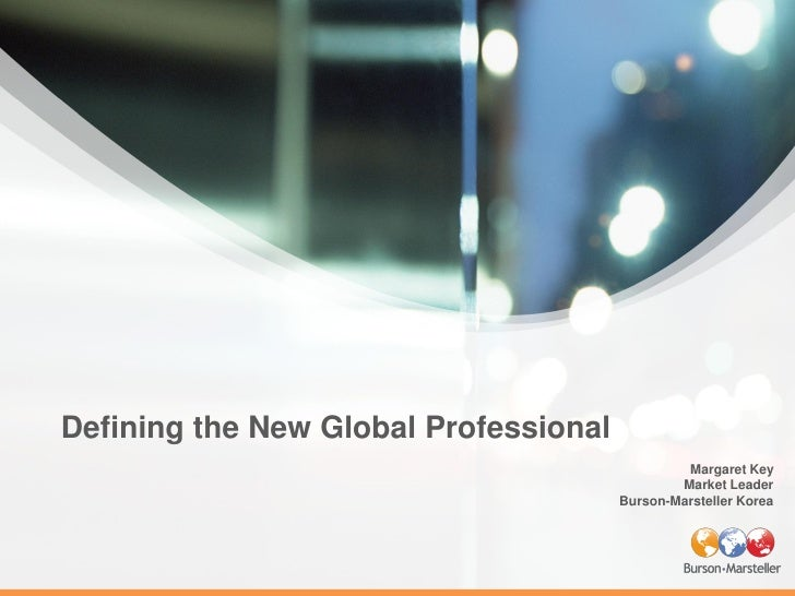 Defining the New Global Professional