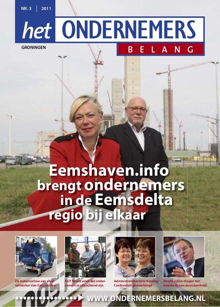 """""""het Ondernemersbelang\'Groningen"""" 3-2011"""
