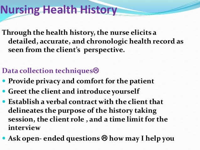 nursing health history
